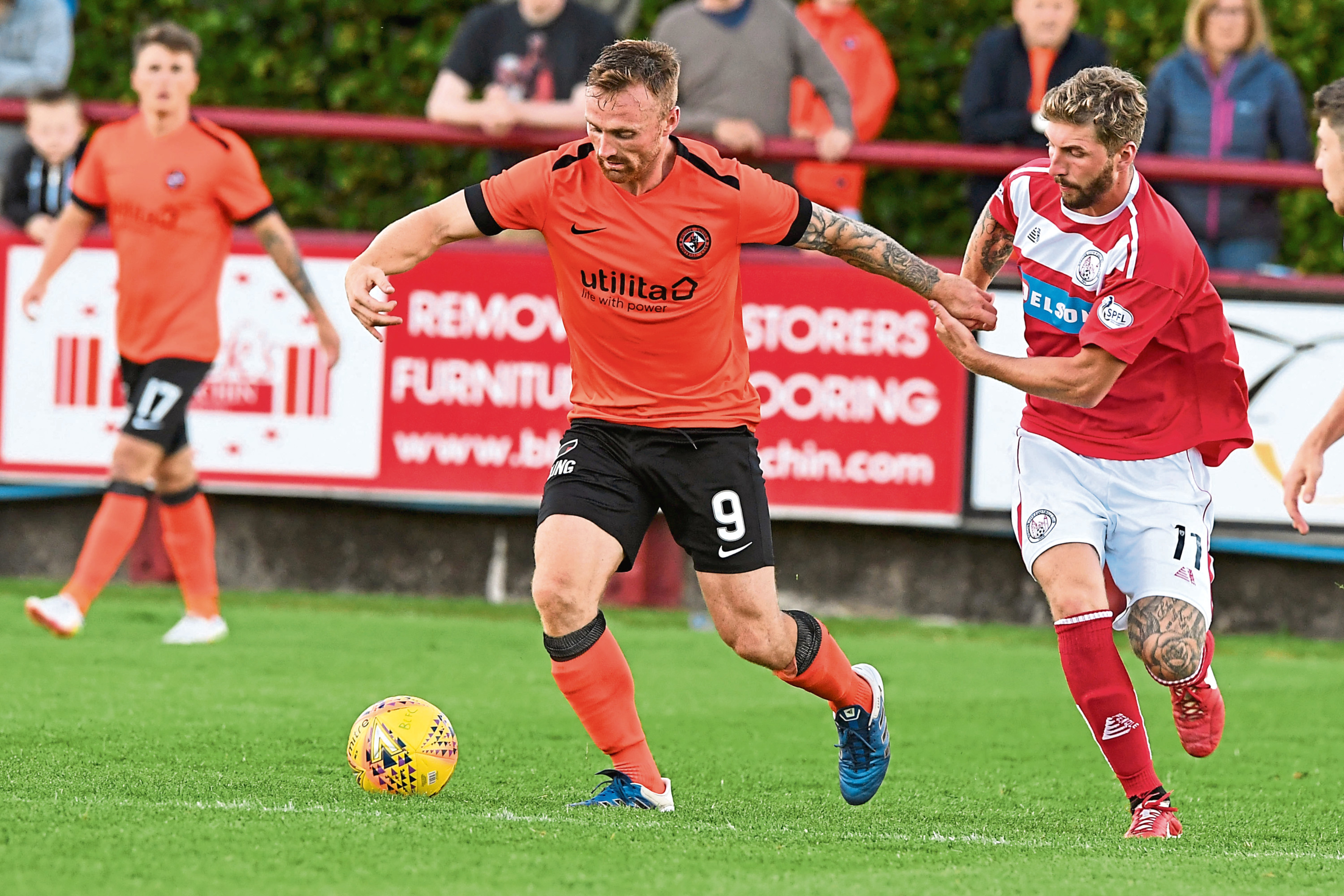 Craig Curran impressed on his Dundee United debut, leading the line for Csaba Laszlo's side in their 2-0 victory over Brechin on Tuesday night.