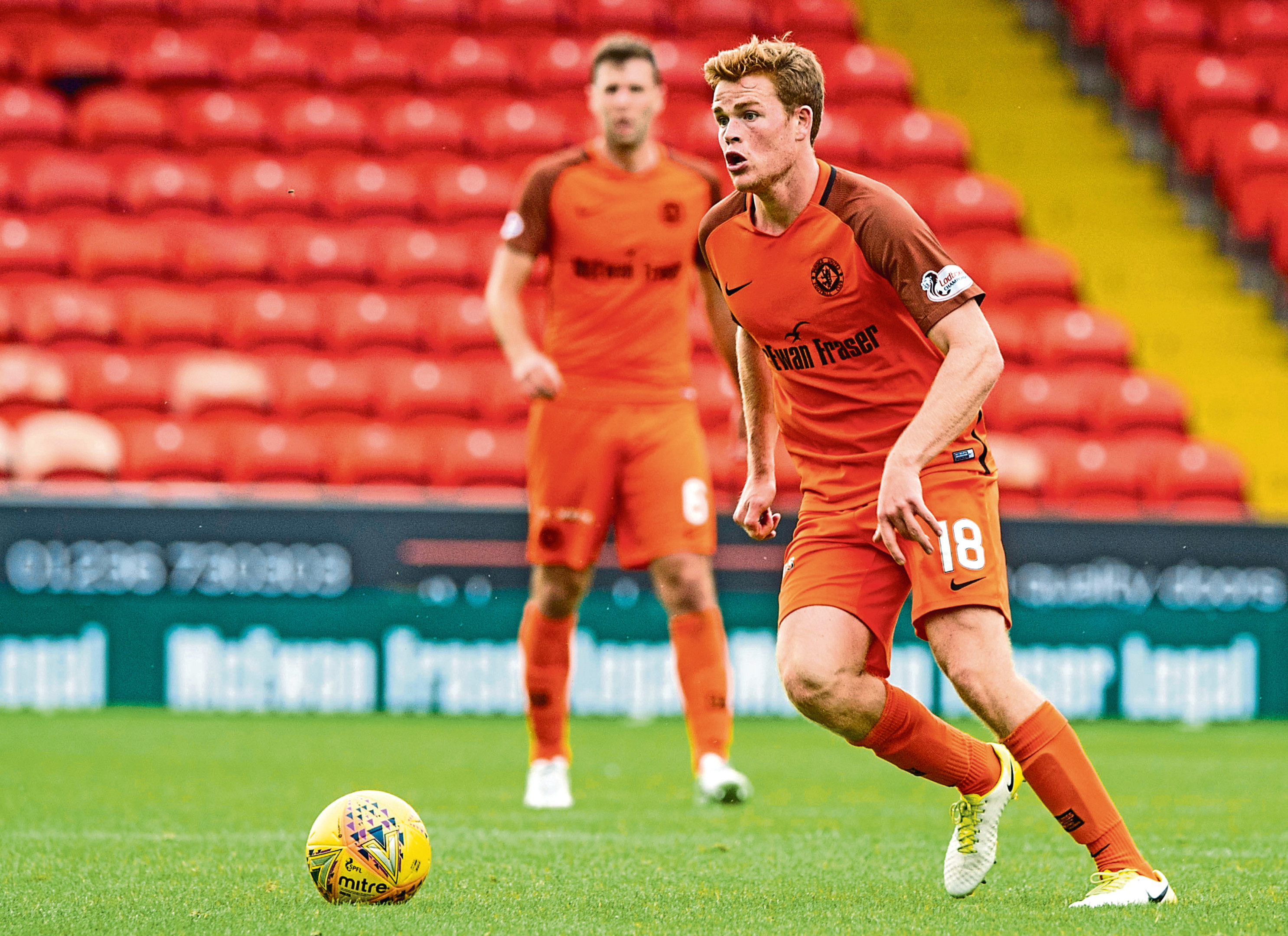 Dundee United youngster Scott Allardice will be looking to cement himself in a new position at centre-back next season.