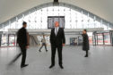 Mike Galloway, Dundee City Council's executive director of city development, inside the new railway station entrance.