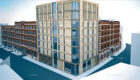 An artist's impression of the new flats block