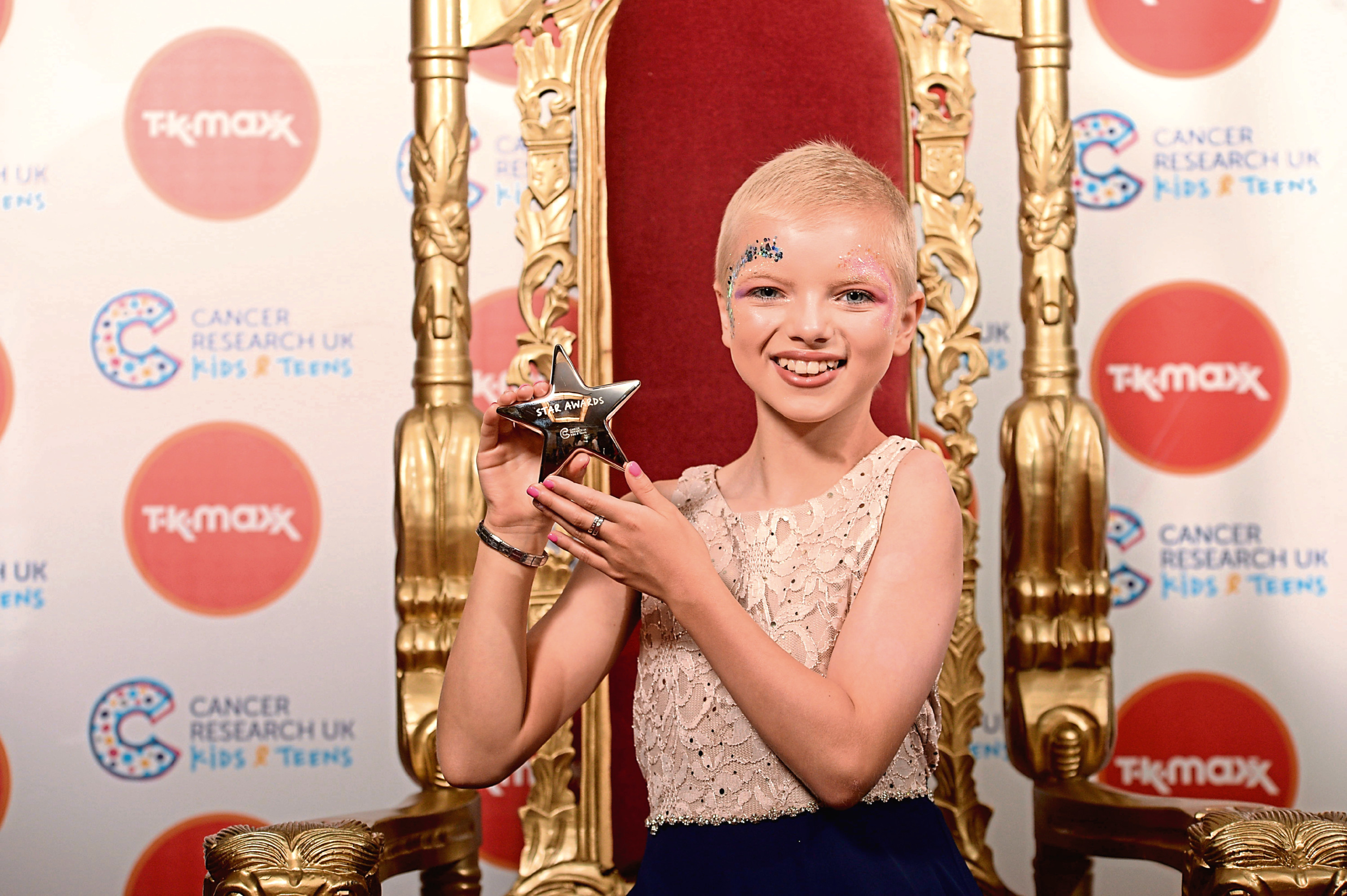 Lily Douglas at Cancer Research UK Kids and Teens Star Awards in London.