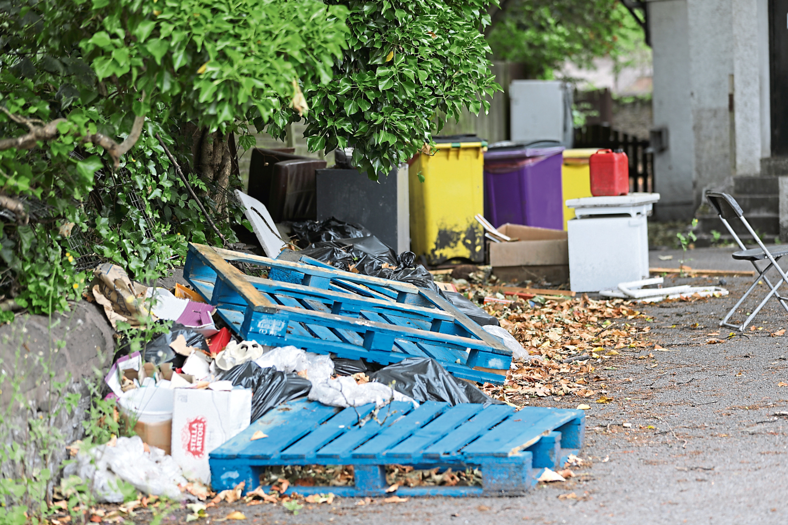 Residents have raised concerns over fly-tipping at the Park House Hotel.