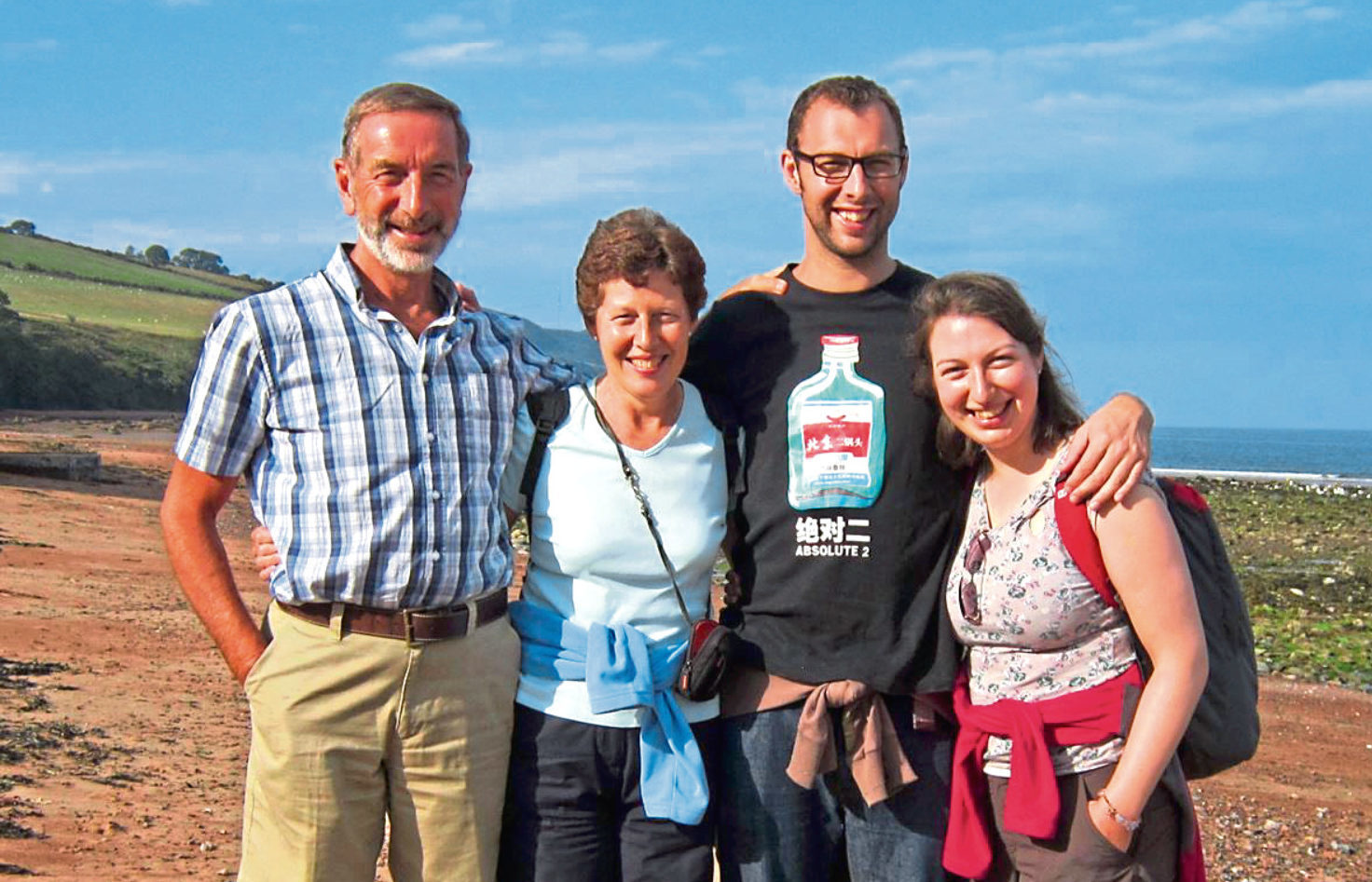 Gordon Thorburn with his wife Janice, son Ross and daughter Karen.