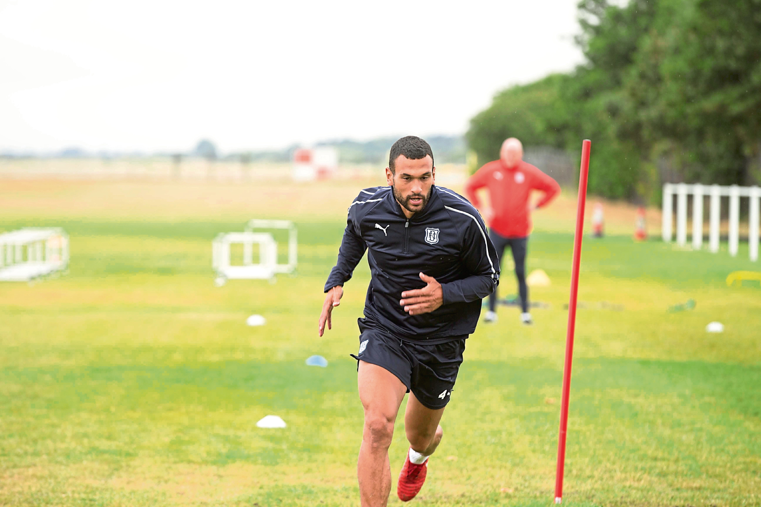 Steven Caulker in Dundee training.