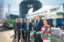 Pictured at the opening are, from left: port manager David Webster, Forth Ports Ltd chief operating officer Stuart Wallace, OMEX chairman Olof Winkler, Max Winkler and Lynne Short, convener of Dundee City Council's city development committee.