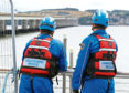 The coastguard stand by after concern was raised for a woman's welfare at the Tay Road Bridge.