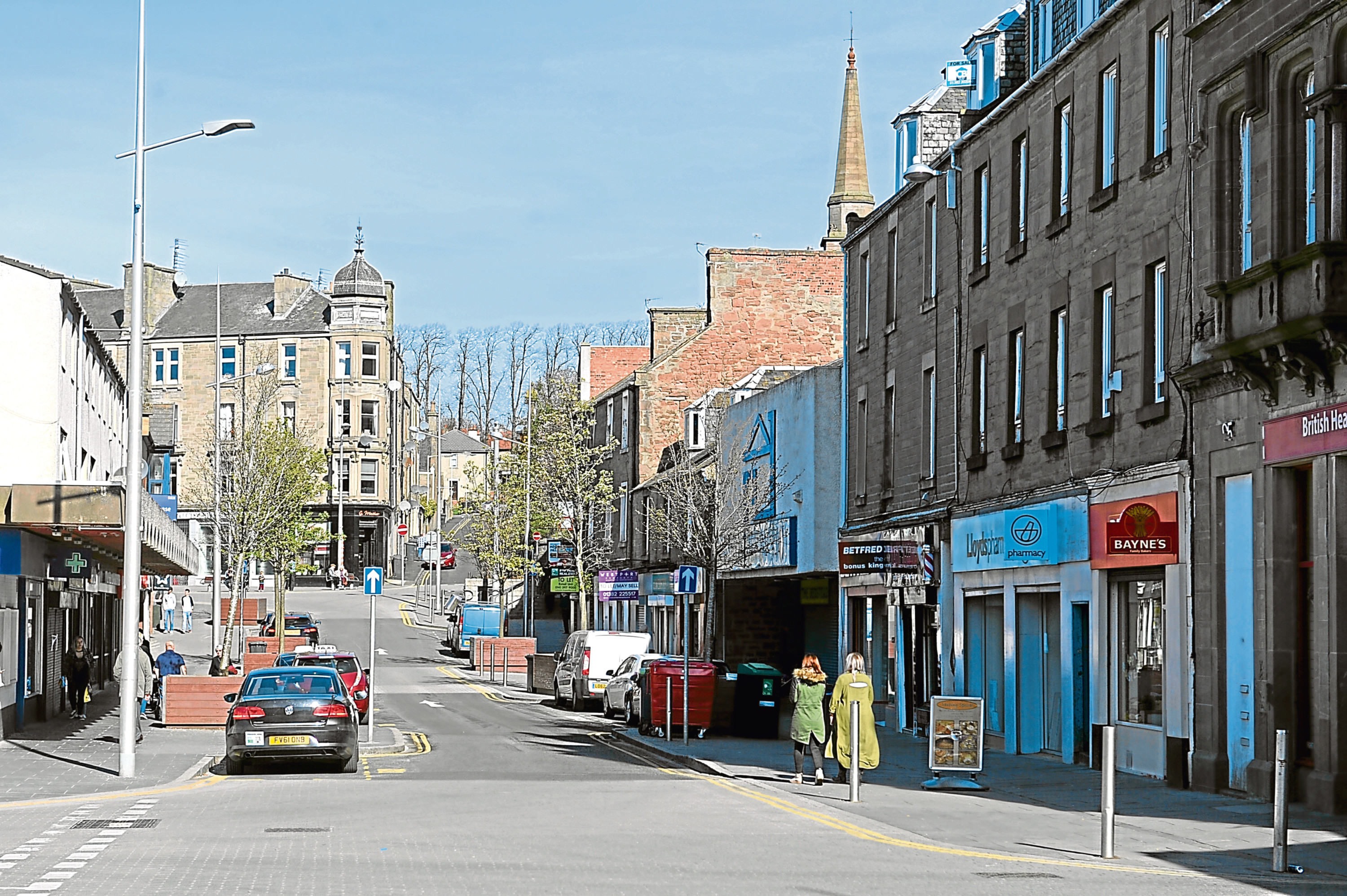 High Street in Lochee (stock image)
