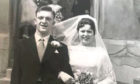 Jim and Isabella Martin on their wedding day