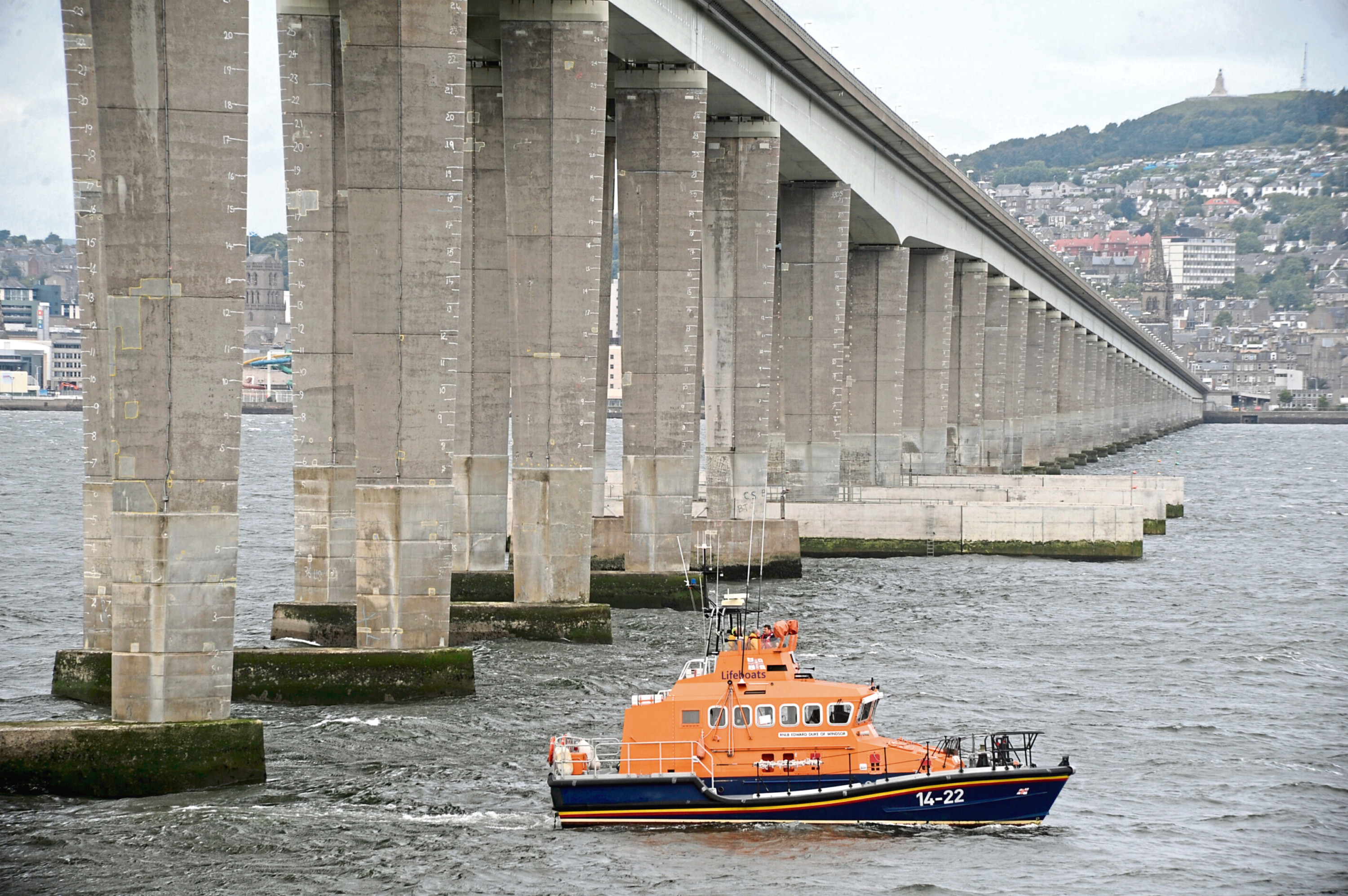 A lifeboat on the river
