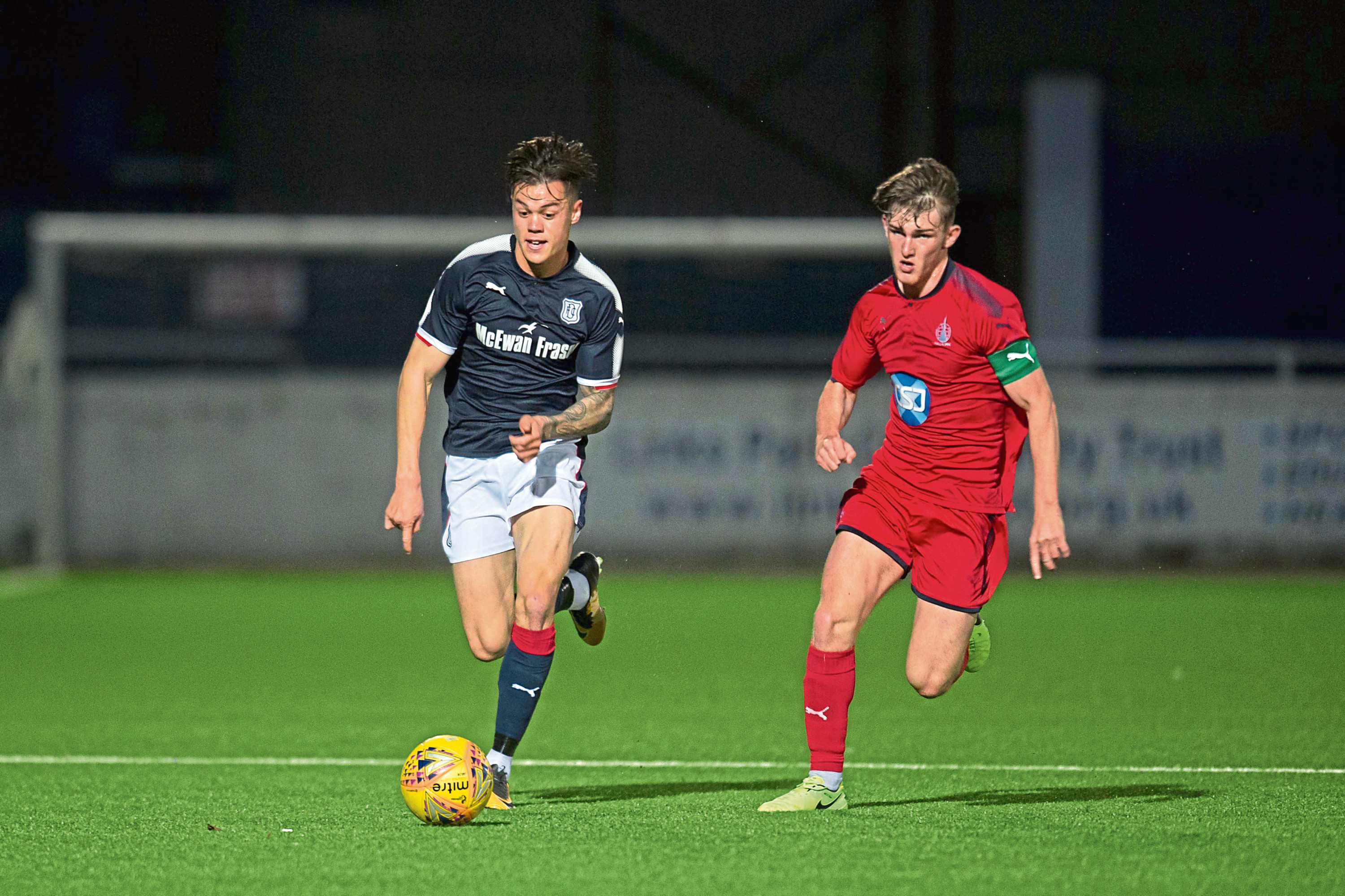 Jesse Curran recently signed a new one-year contract at Dundee.