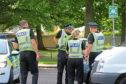 Police at Lansdowne Court, Dundee