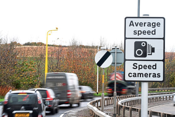 Average-speed cameras have been operating on the A90 for a year