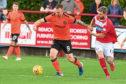 03/07/18 PRE-SEASON FRIENDLY  BRECHIN CITY V DUNDEE UTD  GLEBE PARK - BRECHIN  Dundee Utd's Craig Curran (left) and Euan Smith in action.