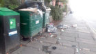 Rubbish spilling out of bins near Blackness Library on Perth Road, taken last year.