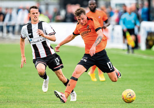 Dundee United's Jamie Robson impressed at Elgin.