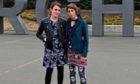 Alice Horton (left) and Alice Carroll at Edinburgh Airport