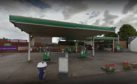 Colinsburgh Filling Station in Leven (stock image)