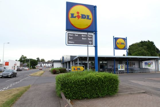 The Lidl store in Forfar