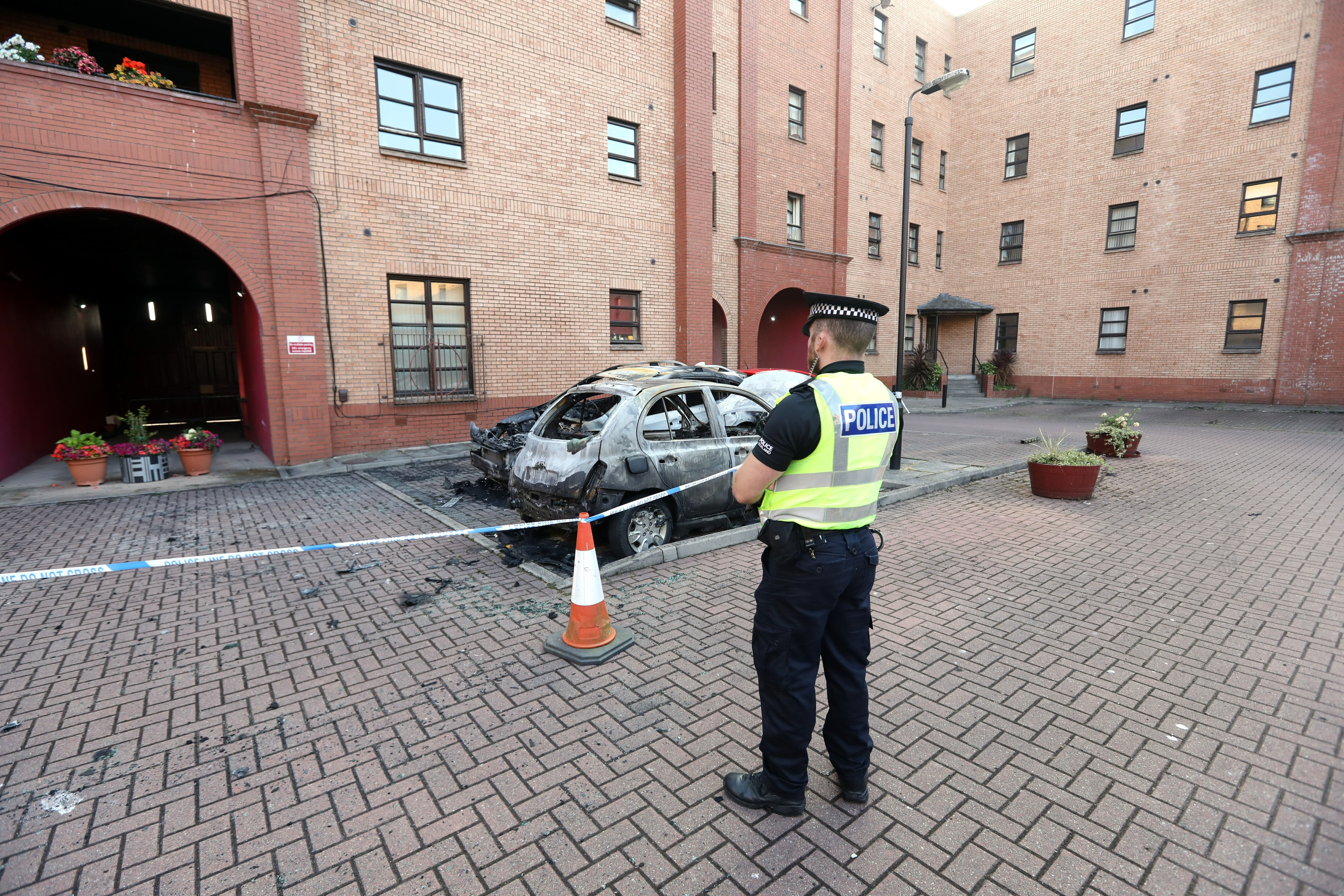 Cars and a bike burnt out in Trades Lane, Dundee