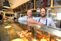 Alan and Jonathon Clark in the 24-hour takeaway shop