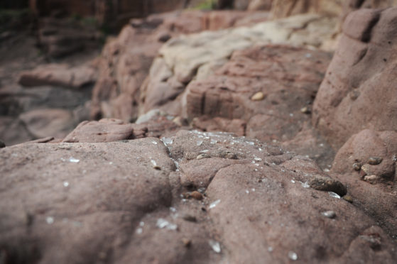 Rubbish strewn across Arbroath cliffs