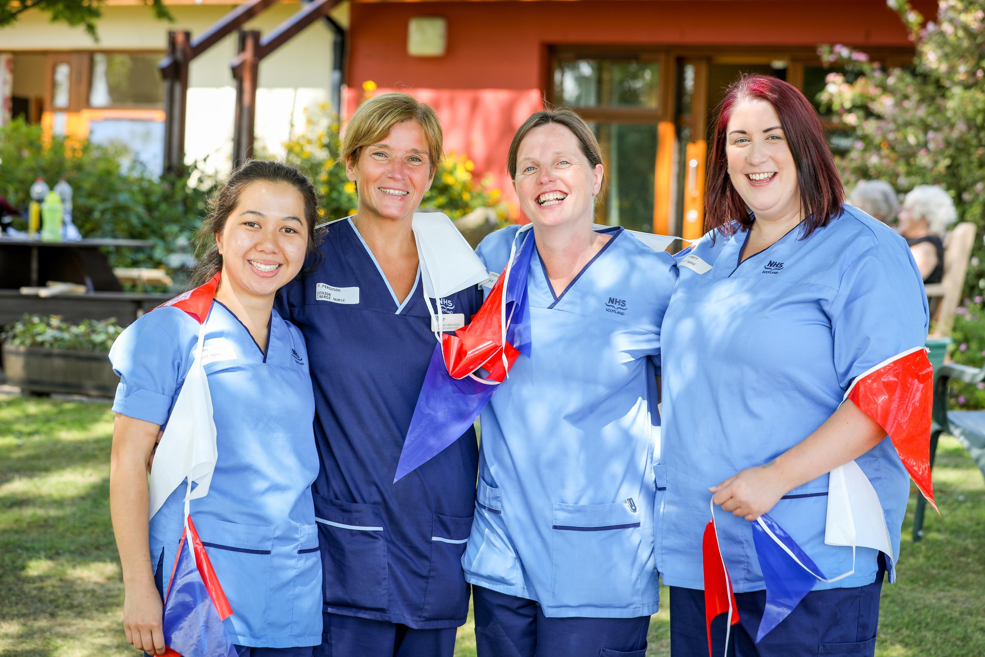 Some of the Roxburghe staff. Staff nurse Kim Chan, senior charge nurse Marnie Ferguson, staff nurse Fiona Foxon and staff nurse Robyn Barnett.