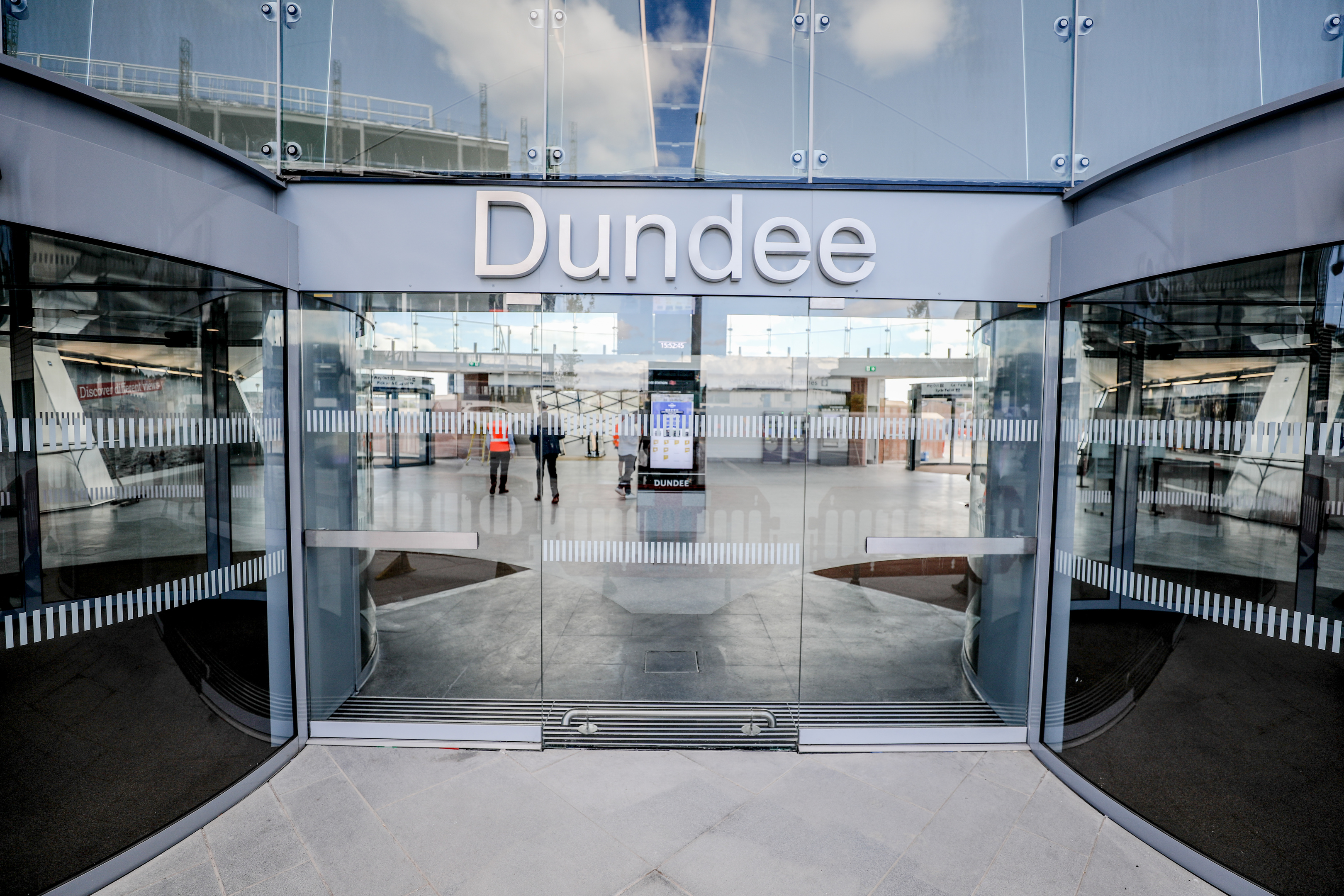 The entrance to Dundee's new station