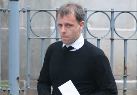 Paul McGowan outside Dundee Sheriff Court today