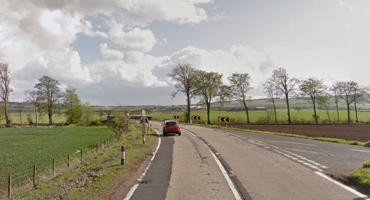 The A92 between Ladybank and Freuchie