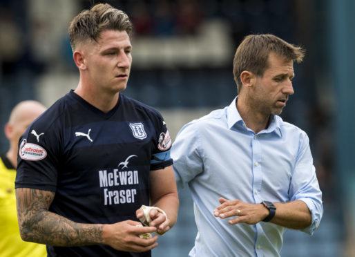 New Dundee captain John Meekings alongside Neil McCann