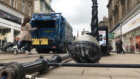 The scene of the bin lorry crash at Murraygate, Dundee