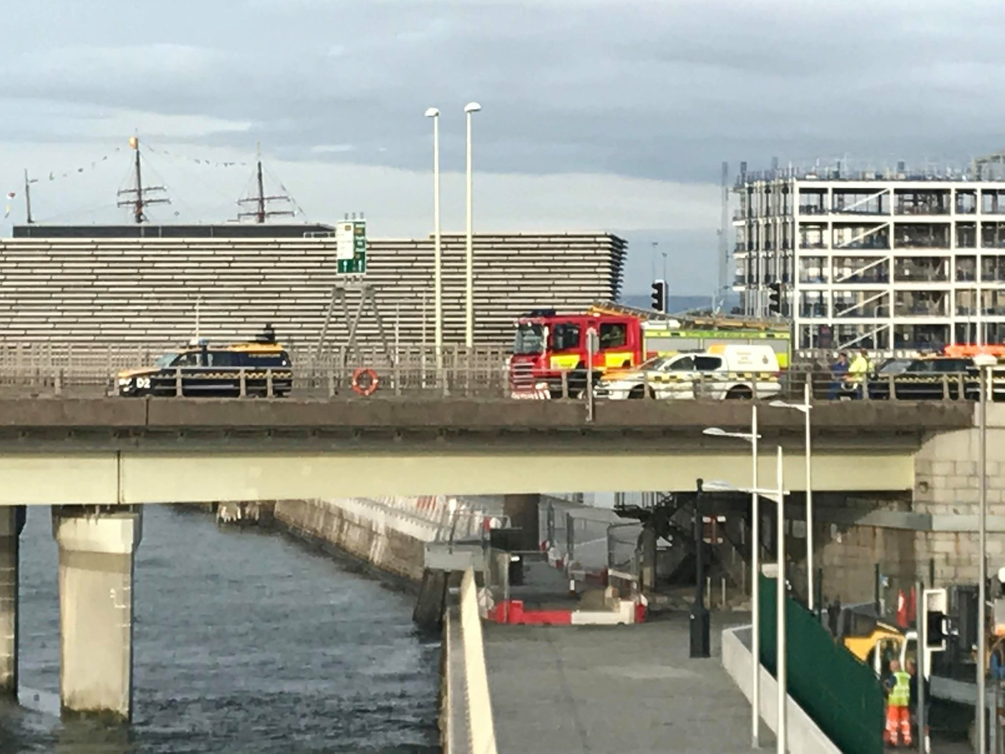Emergency services on the Tay Road Bridge