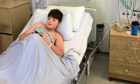 Kaydn Buchan in hospital in Glasgow