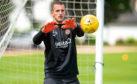 Dundee United goalkeeper Matej Rakovan