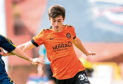 Dundee United's Declan Glass (right) in action