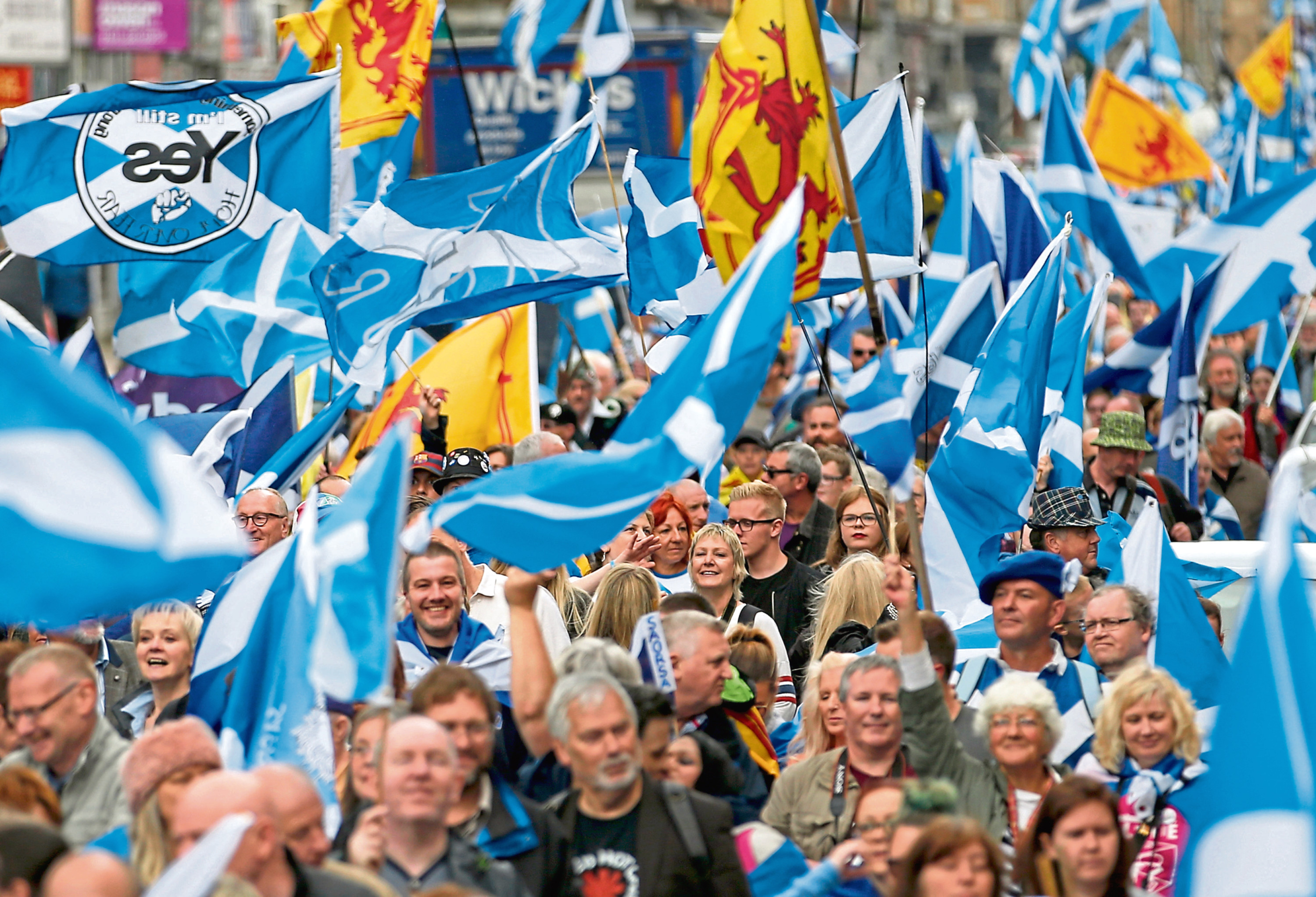 A previous All Under One Banner March in Glasgow
