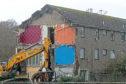 Demolition work started on Hebrides Drive last year.