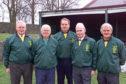 Members of the Kelly family who run Lochee Harp. Left to right, Jim Kelly, Jack Kelly, Harry Kelly, Albert Kelly and Ged Kelly