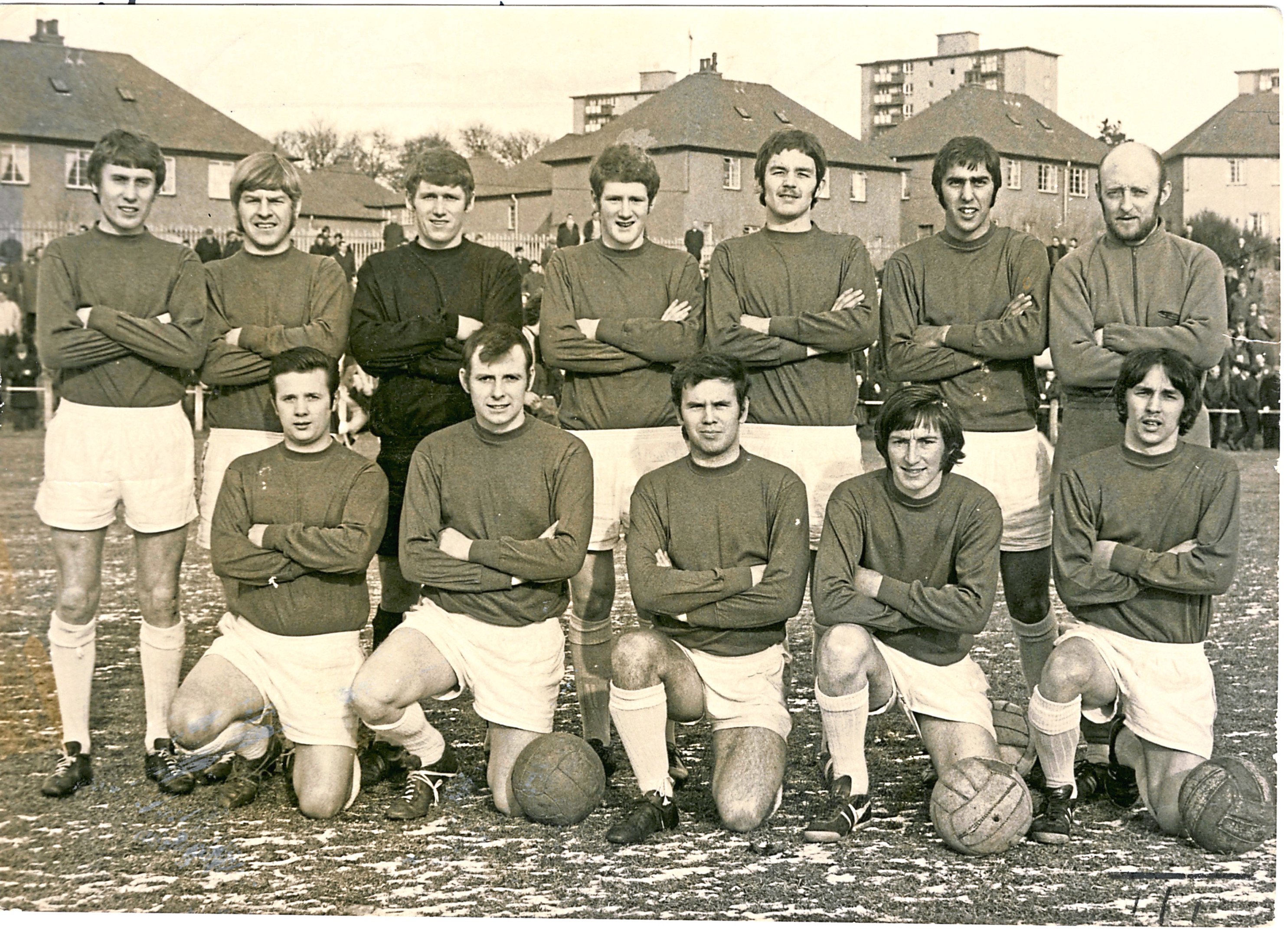 Jimmy Gowans is pictured front row, right.