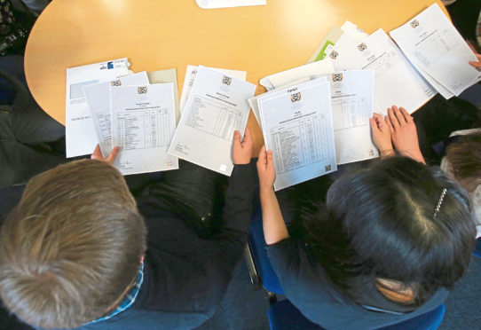 Figures published by Scotland's exam body have shown the extent to which pupils from the most deprived backgrounds had their results downgraded