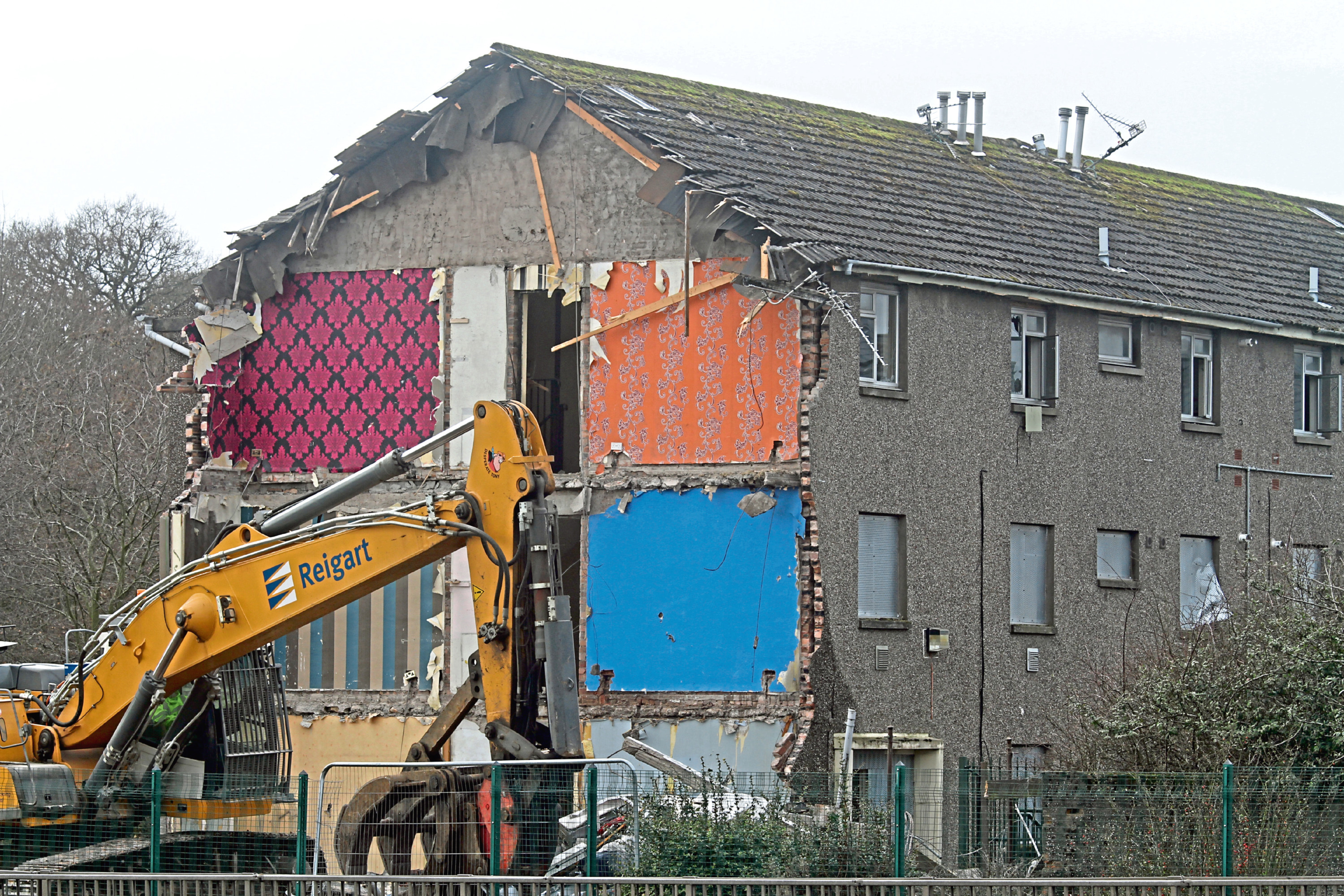 Demolition work taking place during the start of phase four