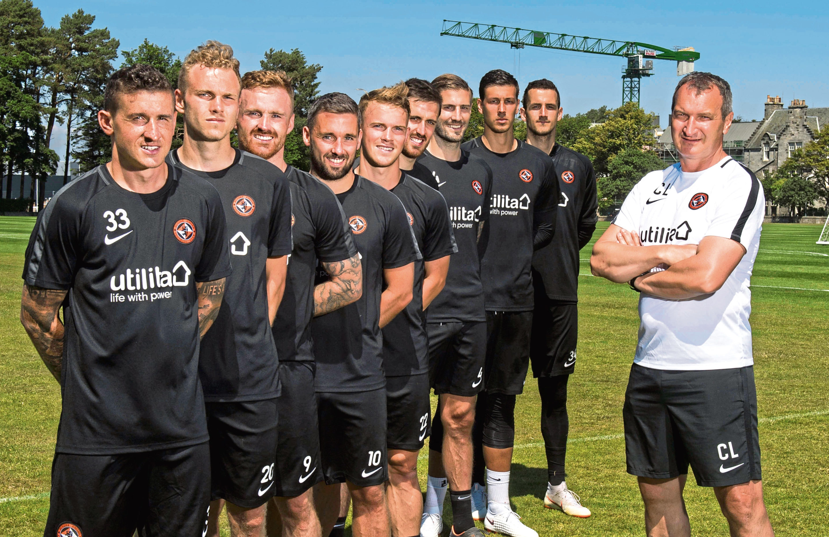 Csaba Laszlo with some of his new signings.