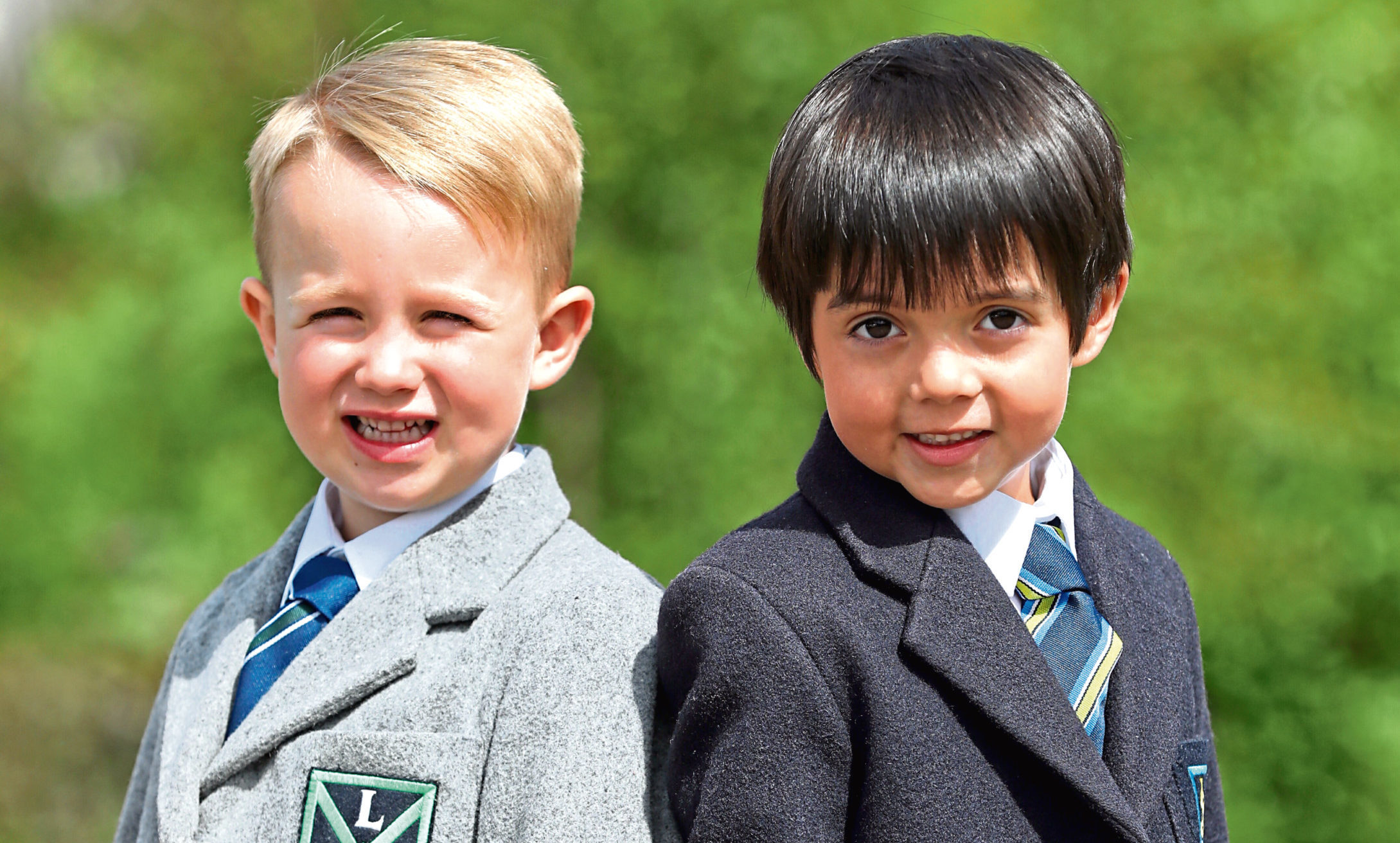 Connell is off to Longhaugh Primary and Luca is set for St Joseph's Primary