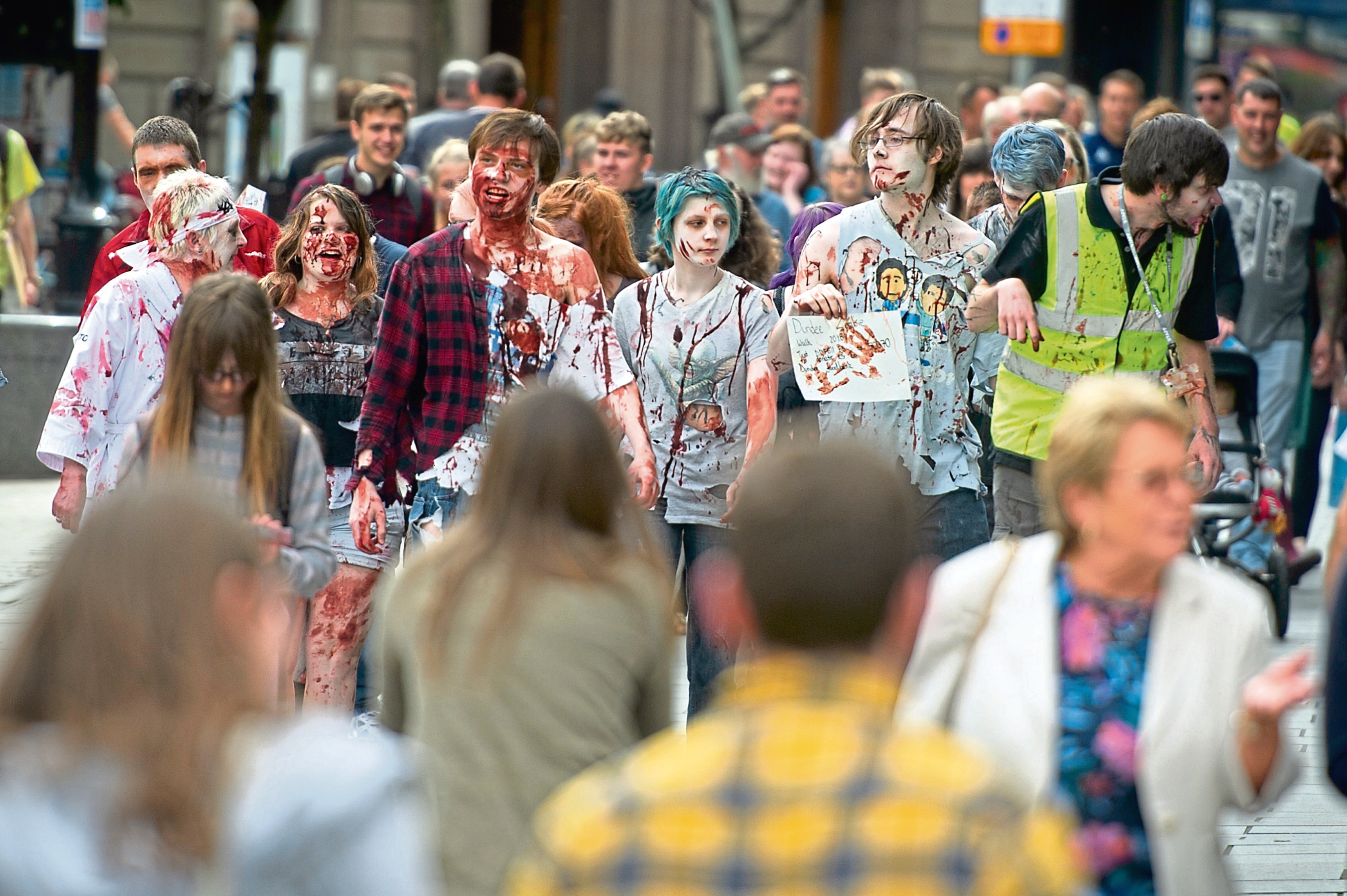 The seventh Dundee Zombie Walk