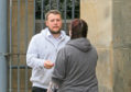Gavin Thomson pictured outside Dundee Sheriff Court after admitting the fraud.