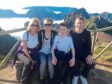 Picture shows John McGlashan with his wife Dawn and children Hollie and John.