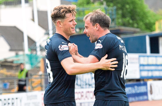 Lewis Spence is fit after his injury scare last weekend and, along with Paul McGowan, gives his manager a decision to make in midfield.