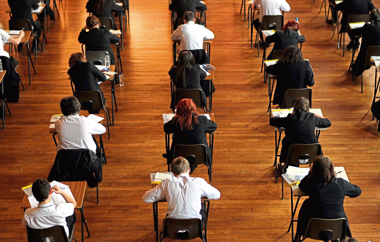 Children sitting an exam. (stock image)