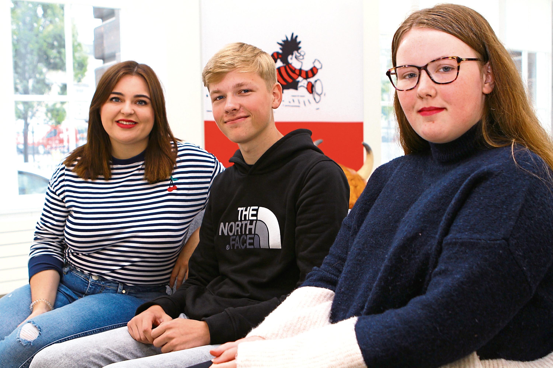 Chelsea Cameron, Joshua Hunter and Miryn Doyle
