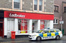 Police at Ladbrokes in Perth Road, Dundee